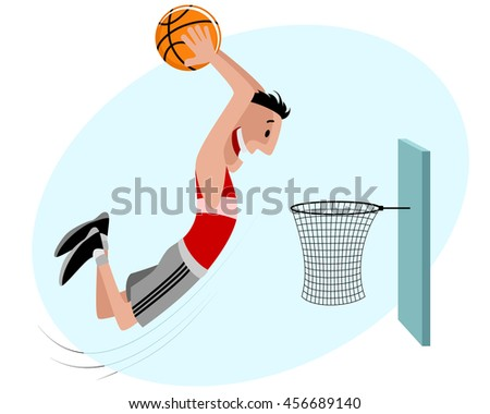 Vector illustration of a basketball player with ball - stock vector