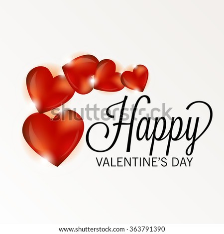 Vector illustration of a beautiful background for Happy Valentines Day.