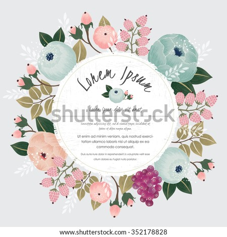 Vector illustration of a beautiful floral border with flowers for wedding invitations and birthday cards - stock vector