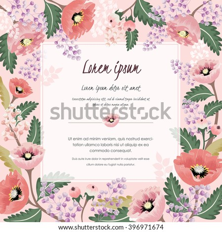 Vector illustration beautiful floral border spring stock vector vector illustration of a beautiful floral border with spring flowers for invitations and birthday cards stopboris Image collections