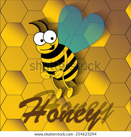 Vector illustration of a bee. Vector eps 10.