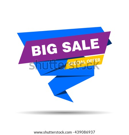 Vector illustration of a Big Sale Banner on a colorful background