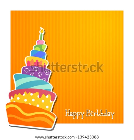 Vector Illustration of a Birthday Card - stock vector