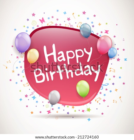 Happy Birthday Vector Greeting Card Design Vector 636331607 – A Birthday Card