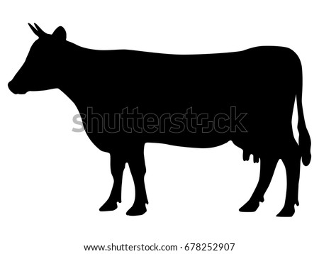 cow side view coloring pages - photo#24