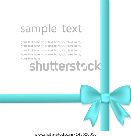 Vector illustration of a blue bow - stock vector