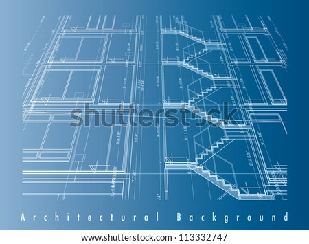 Vector illustration of a blueprint.