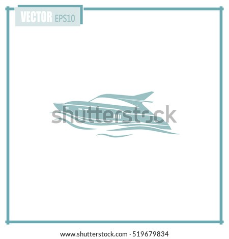 Vector illustration of a boat