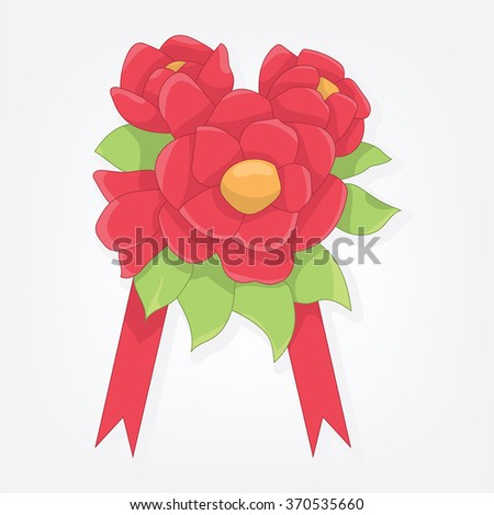 Vector illustration of a bouquet of flowers  - stock vector