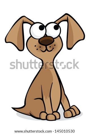Vector illustration of a brown puppy - stock vector