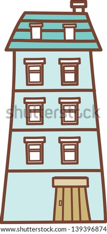 Vector illustration of a building