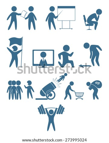 Vector illustration of a business people icons
