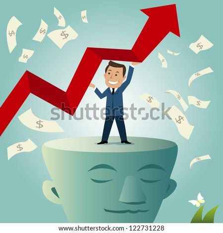 Vector illustration of a businessman