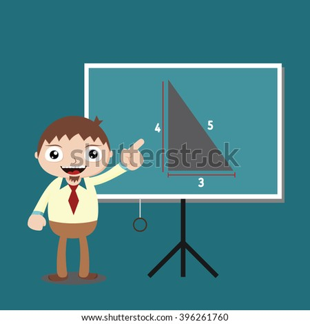 Vector illustration of A businessman with various pose, Perfect to use for promotion tools, website images or magazine illustration