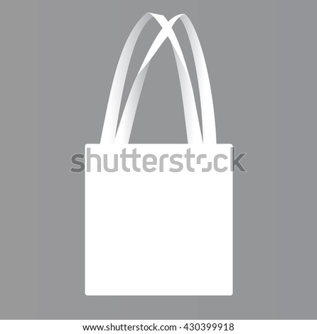 Vector illustration of a canvas bag