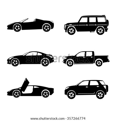 Vector illustration of a car on a white background