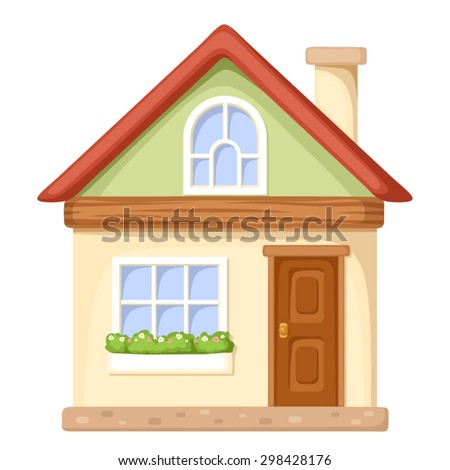 Vector illustration cartoon house isolated on stock vector for Picture of my home