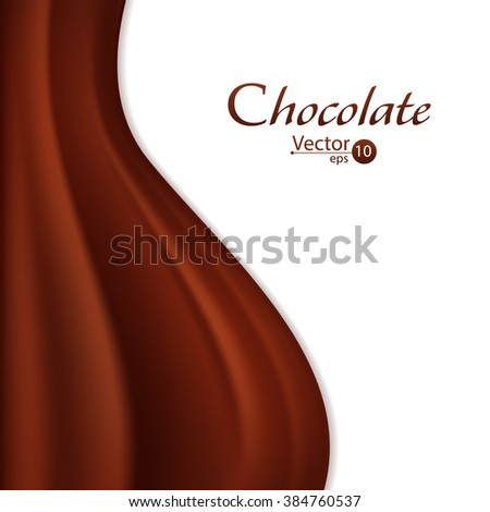 Vector Illustration of a Chocolate Background