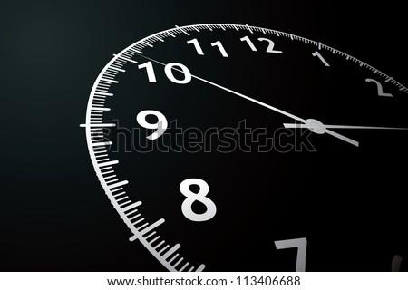 vector illustration of a clock - stock vector