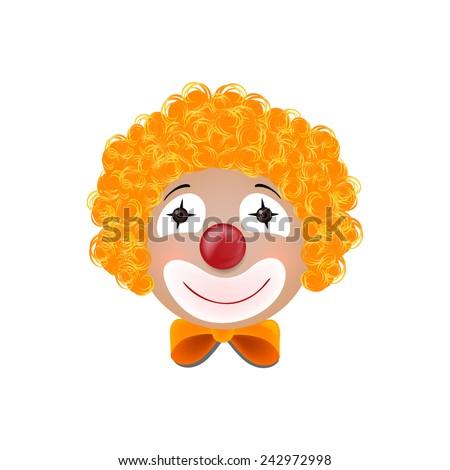 Vector Illustration of a Clown - stock vector