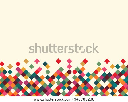 vector illustration of a color on white background - stock vector