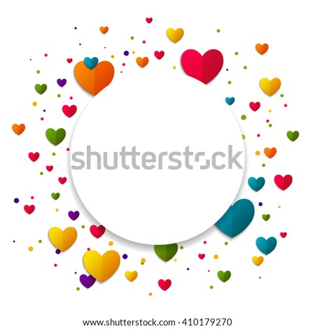 Vector Illustration of a Colorful Background with Hearts