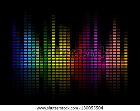 Vector Illustration of a Colorful Music Equalizer - stock vector