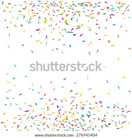 Vector illustration of a colorful party background with confetti and space for your text - stock vector