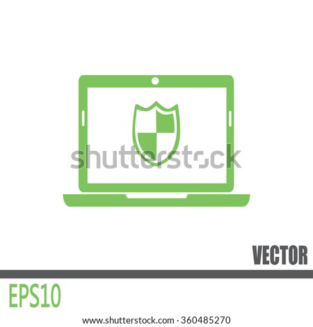 Vector illustration of a computer - stock vector