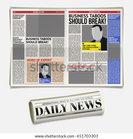 tabloid layout stock images royalty free images vectors