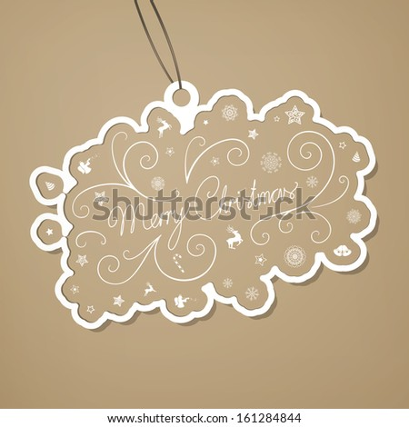 Vector Illustration of a Decorative Christmas Tag - stock vector