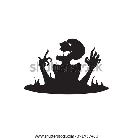vector illustration of a demon on a white background silhouette dead man in the black