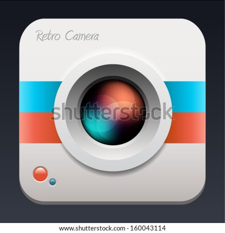 Vector illustration of a detailed camera icon  - stock vector