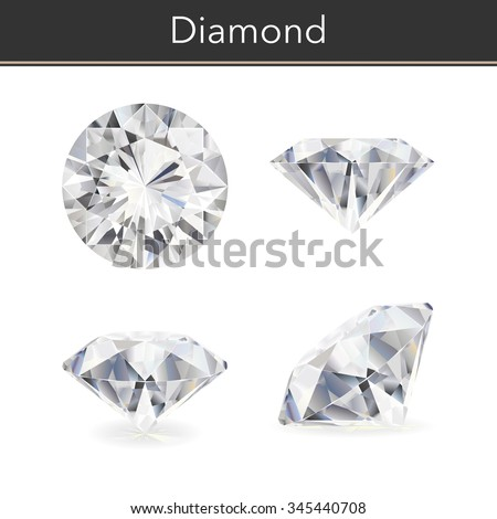 Vector illustration of a diamond. White background.
