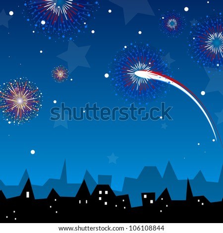 Vector illustration of a firework