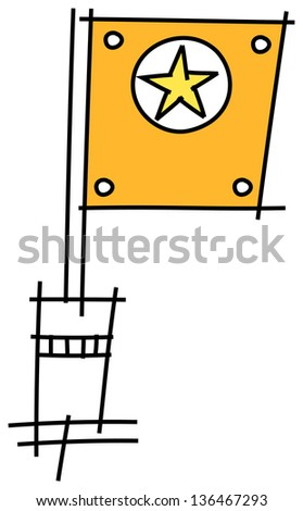 Vector illustration of a flag