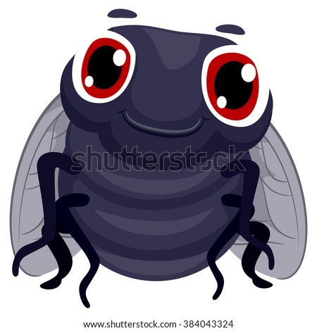 Vector Illustration of a Fly