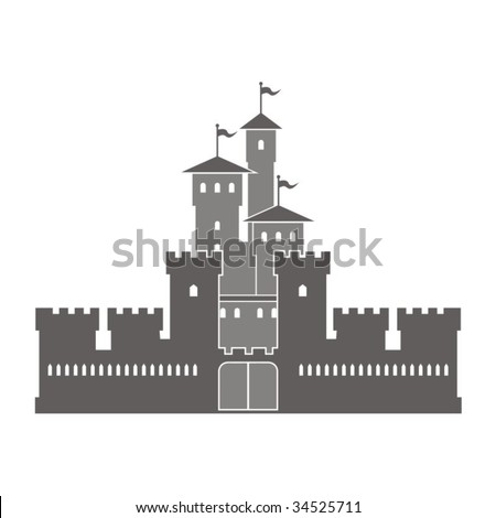 Vector illustration of a fortress. - stock vector