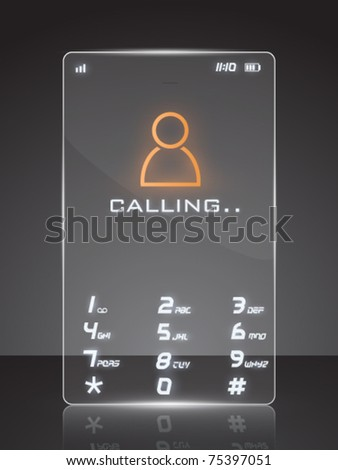 vector illustration of a futuristic cell phone - stock vector