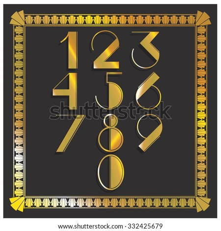 Vector illustration gatsby retro numbers your stock vector 332425679 vector illustration of a gatsby retro numbers for your party invitations postcard templates and other stopboris Image collections