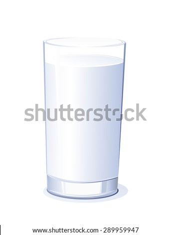Vector illustration of a glass of milk.