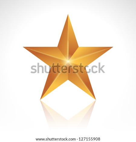 Vector illustration of a golden new star.