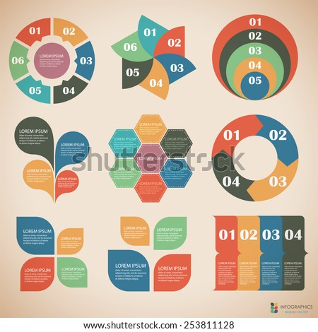 Vector illustration of a graphic information - stock vector