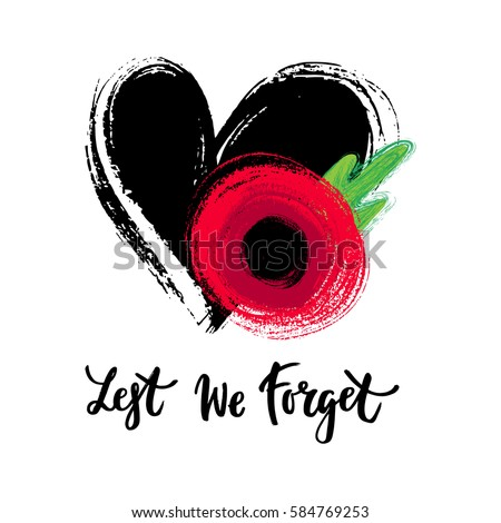 Vector Illustration Hand Drawn Bright Poppy Stock Vector Royalty