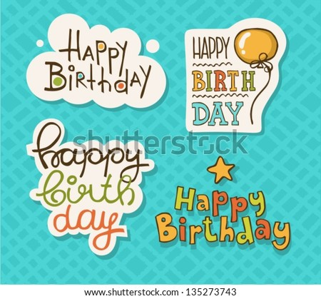 Happy Birthday Text Images RoyaltyFree Images Vectors – Happy Birthday Greeting Text