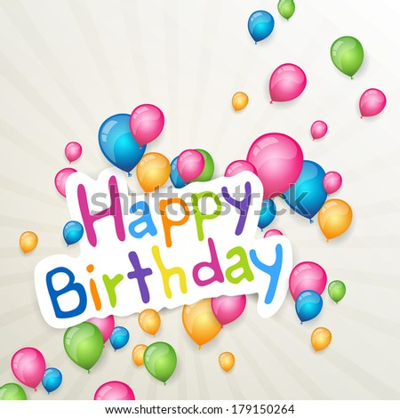 Vector Illustration Happy Birthday Greeting Card Vector – Happy Birthday Greeting Photo