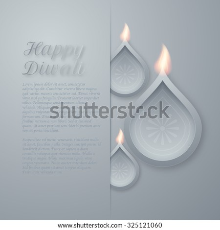 Vector illustration of a happy Diwali day. - stock vector