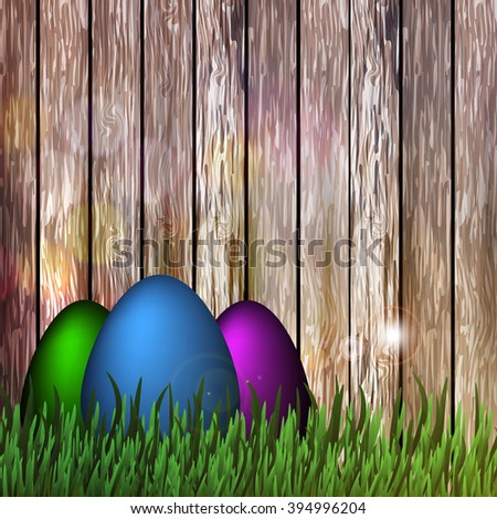 Vector illustration of a happy Easter.