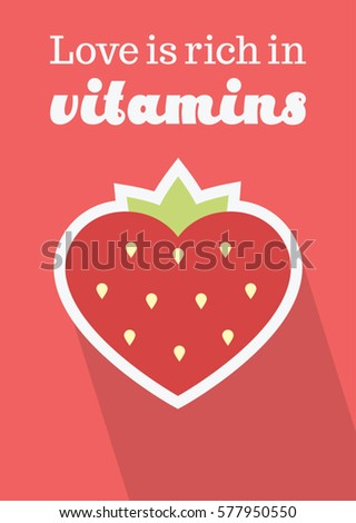 Illustration open book hearts above text stock illustration vector illustration of a heart shaped strawberry with text love is rich in vitamins altavistaventures Image collections