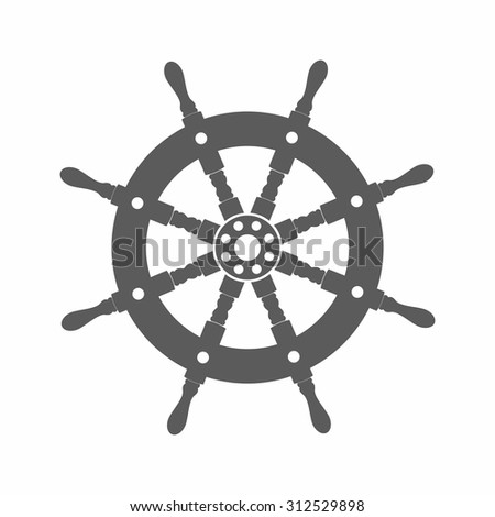 Vector illustration of a helm silhouette in the old-fashioned style and line-art style. Can be used as a tattoo / helm silhouette black and white vector illustration - stock vector